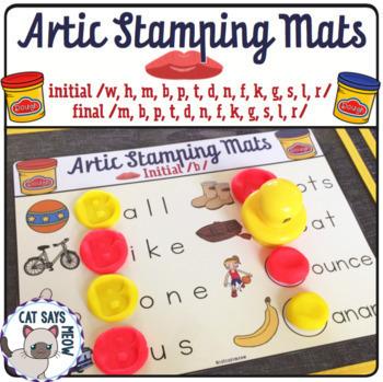 Artic Stamping Mats: Letter Stamping Dough Mats + Minimal Pairs