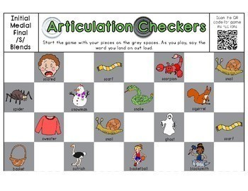 Articulation Checkers (s,l,r,ch,th,sh + blends)