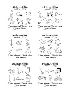 Articulation Stickies! Sticky Note Artic Tasks