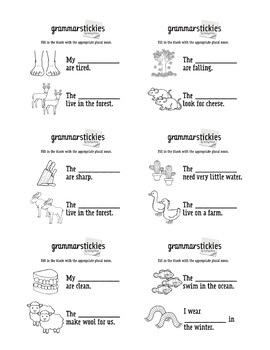 Grammar Stickies! Sticky Note Language Tasks (pronouns, verbs tenses +more)