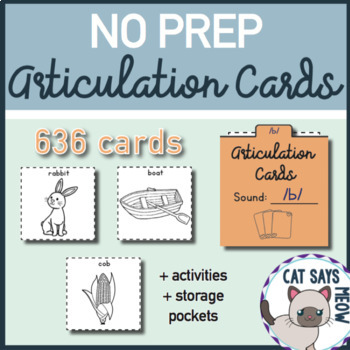 NO PREP Articulation Cards: 636 Print and Go Cards + More!