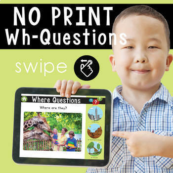 NO PRINT: Wh- Questions with Picture Choices (no prep) + P