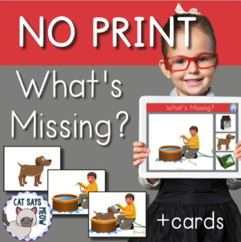 NO PRINT: What's Missing? (Logic, Functions) + Printable Cards