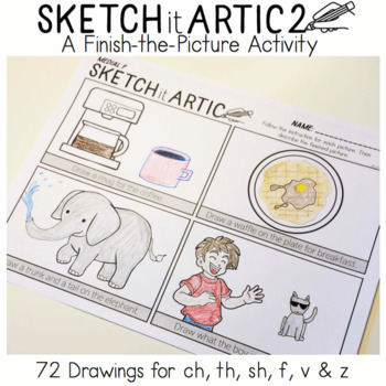 Sketch It Artic 2: A Finish-the-Picture Activity!