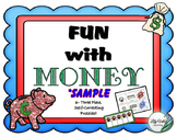 **Intro to Money- full SAMPLE- (Self-Correcting Puzzles) F