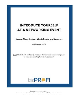 """Introduce Yourself at a Networking Event"" Lesson Plan"