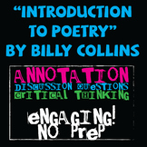 """""""Introduction to Poetry"""" by Billy Collins Poetry Study"""