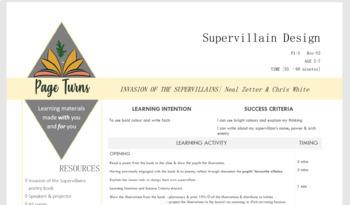 'Invasion of the Supervillains' Lesson Plan: ART & DESIGN