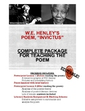 """Invictus"" by W.E. Henley- Worksheet & Mini-Unit Package-"