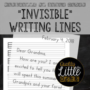 """""""Invisible"""" Penmanship Lines, Lined Writing Paper, Neat Handwriting & No Lines"""