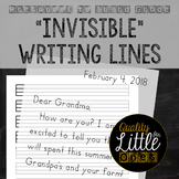 """""""Invisible"""" Penmanship Lines, Lined Writing Paper, Neat Ha"""