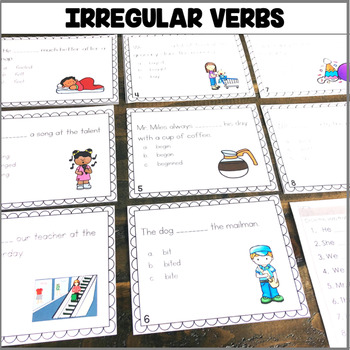"""Irregular Verbs Task Cards"" Center"