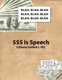 $$$ Is Speech – Citizens United v FEC