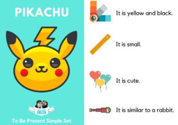 """Is it...?"" Pokemon Flash Cards Game, Bonus Pack(Part 2 of Verb Tenses)"