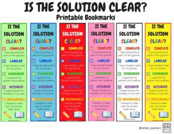 """Is the Solution CLEAR?"" Bookmarks"