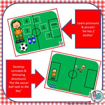 """It's A Goal!!!"" Soccer Pronouns Game"
