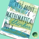 """""""It Is About Becoming a Mathematical Thinker"""" Poster (FREE)"""