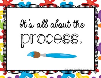 """It's All About the Process"" Art Center Sign Freebie"