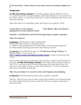 """""""It's Not Easy Being A..."""" A Children's Story Writing Activity"""
