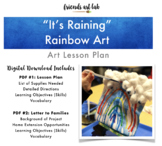 """It's Raining"" Rainbow Art (Weather, Rainbow, Mixed-Media, Gravity +St. Patty's)"