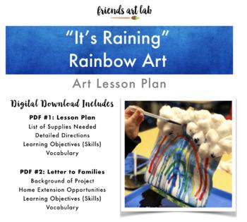 """""""It's Raining"""" Rainbow Art (Weather, Rainbow, Mixed-Media, Gravity +St. Patty's)"""