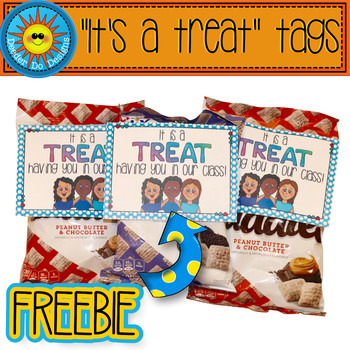 """""""It's a treat"""" gift tags"""