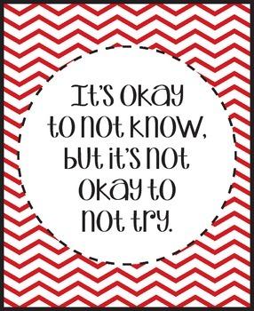 """It's okay to not now, but it's not okay to not try."""