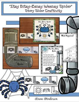 """Itsy Bitsy-Eensy Weensy Spider"" Nursery Rhyme Slider Craft & Writing Prompt"