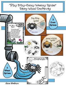"""""""Itsy Bitsy-Eensy Weensy Spider"""" Story Wheel Craft & Writing Prompt"""