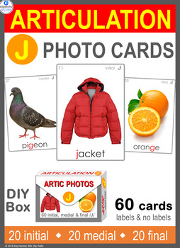 */J/ Articulation 60 Photo Flash Cards : Speech Therapy