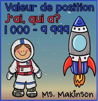 """""""J'ai...Qui A?"""" Valeur de Position (L'Espace) 1000-9999"""
