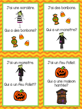 {J'ai... Qui a...? L'halloween!} A French card game