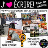 {J'aime Écrire: Poser les questions!} French writing promp