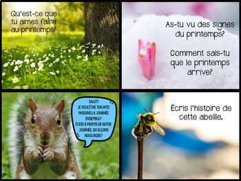 {J'aime Écrire: The Growing Bundle!} French writing prompts [Distance learning]
