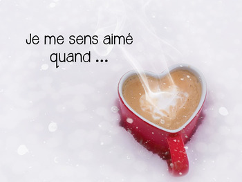{J'aime Écrire: la Saint-Valentin!} French writing prompts with real pictures