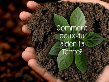 {J'aime Écrire: le Jour de la Terre!} French writing prompts with real pictures