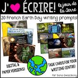 {J'aime Écrire: le Jour de la Terre!} French writing promp