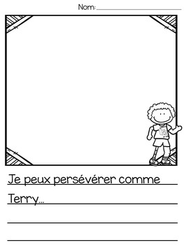 {J'aime Terry Fox!} French activities and a printable reader