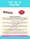 """J' and ""CH"" Sound Tip Sheet - Speech  Therapy"