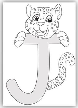 """J"" is for Jaguar Craft and Letter Practice"