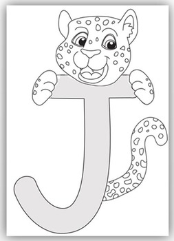 """J"" is for Jaguar Craft and Letter Practice"