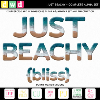 *JUST BEACHY LFLF* Printable Letters Numbers Summer Holiday Clip Art
