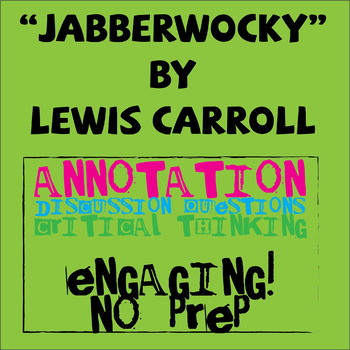 """Jabberwocky"" by Lewis Carroll Poetry Study"