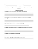 """Jack and the Beanstalk"" Comprehension Questions"