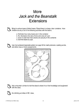 """Jack and the Beanstalk"": End-of-Unit Activities"