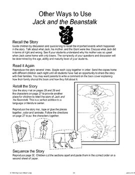 """Jack and the Beanstalk"": Other Ways to Use the Story"