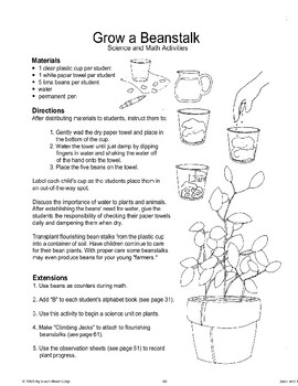 """Jack and the Beanstalk"": Science and Math Activities"