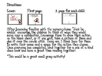 """""""Jack be nimble"""" Class book"""