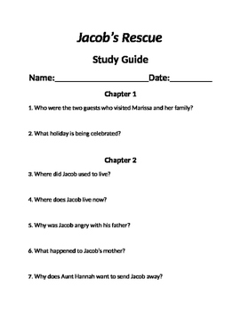 """Jacob's Rescue"" Chapter questions"