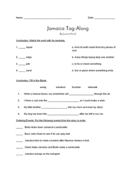 """Jamaica Tag Along"" QUIZ - Spotlight On Literacy (Book Two - Level 7)"